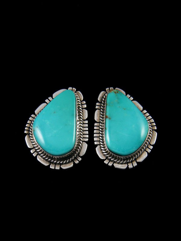 Turquoise Native American Jewelry Post Earrings