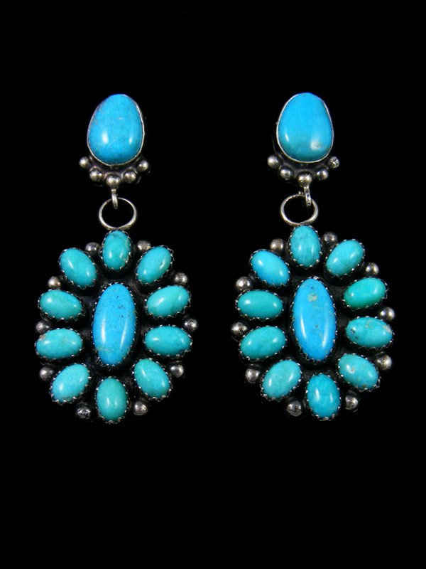 Navajo Turquoise Sterling Silver Post Earrings