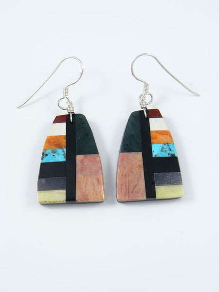 Mosaic Turquoise Santo Domingo Inlay Earrings