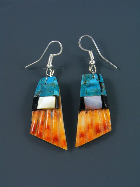 Santo Domingo Mosaic Dangle Shell Earrings