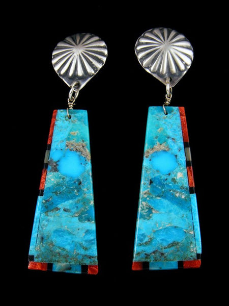 Mosaic Turquoise Santo Domingo Post Earrings
