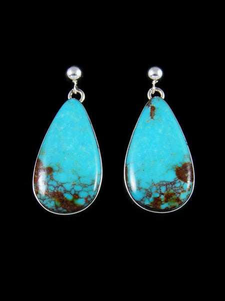 Native American Sterling Silver Turquoise Post Earrings