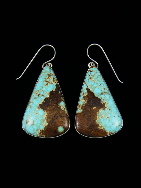 Native American Sterling Silver Turquoise Dangle Earrings