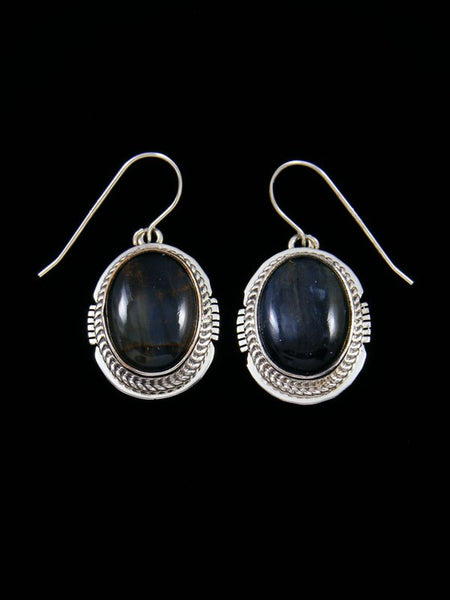 Pietersite Sterling Silver Dangle Earrings