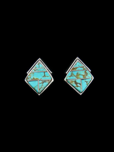 Navajo Turquoise Inlay Post Earrings