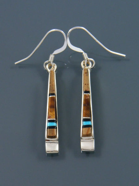 Tiger Eye Inlay Dangle Earrings