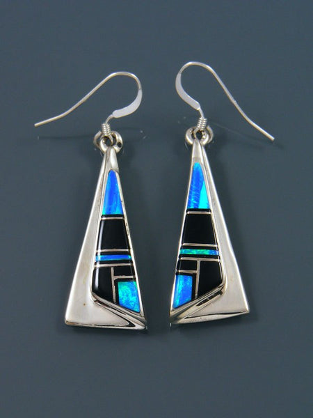 Opalite Inlay Dangle Earrings