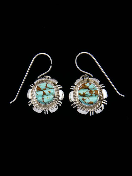 Navajo #8 Turquoise Cobblestone Inlay Earrings