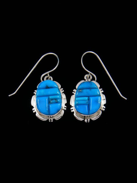 Navajo Turquoise Cobblestone Inlay Earrings