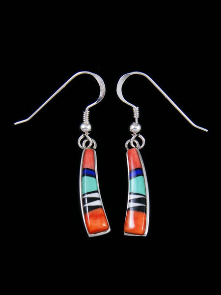 Native American Multistone Inlay Dangle Earrings