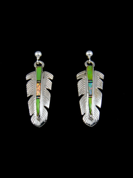 Inlay Feather Earrings