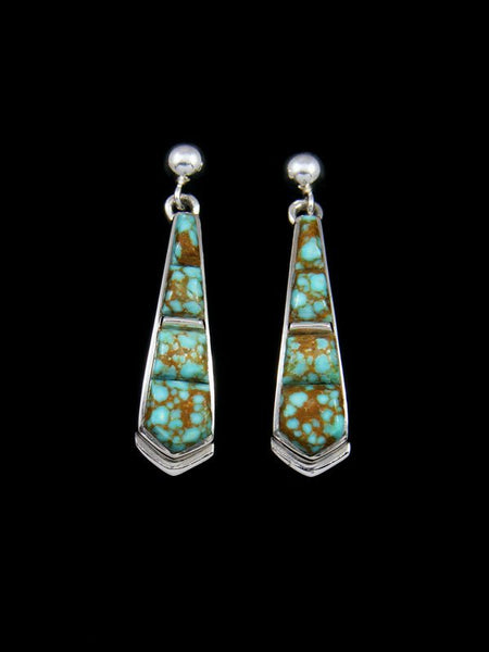 Navajo #8 Turquoise Inlay Post Earrings