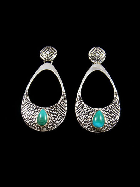 Navajo Jewelry Sterling Turquoise Post Earrings
