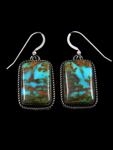 Native American Kingman Turquoise Dangle Earrings