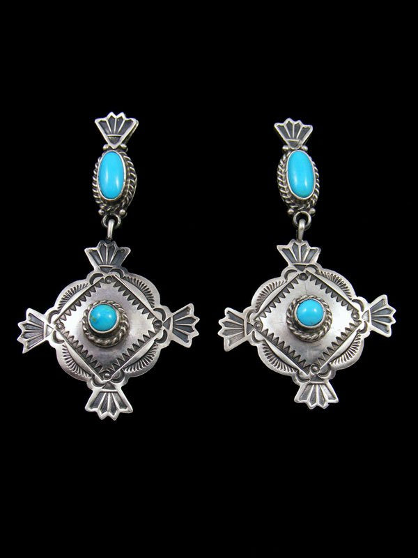 Navajo Sterling Silver Turquoise Post Earrings