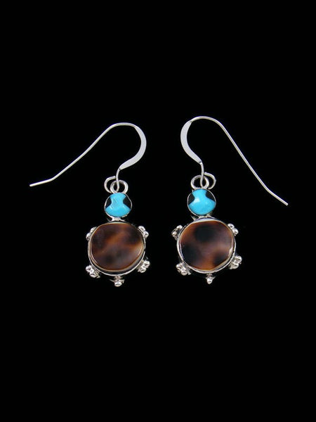 Native American Indian Jewelry Turquoise Turtle Dangle Earrings