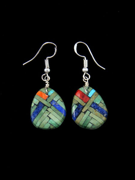Santo Domingo Turquiose Mosaic Inlay Earrings