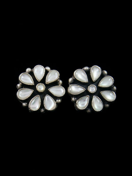 Navajo Mother of Pearl Sterling Silver Post Earrings