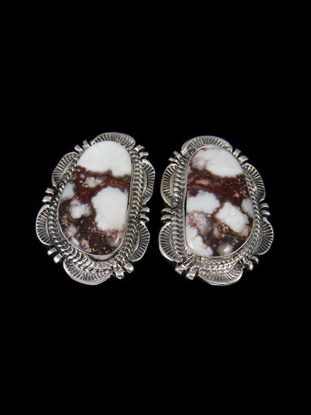 Navajo Wild Horse Sterling Silver Post Earrings