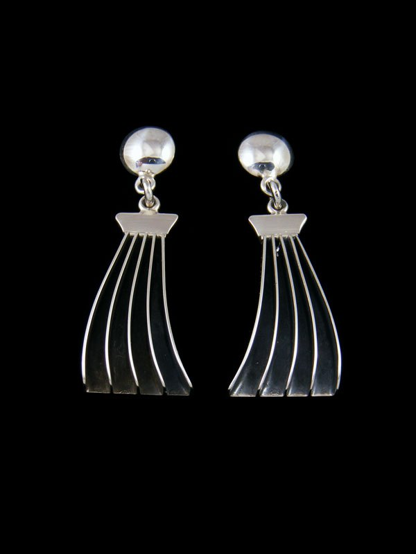 Native American Jewelry Sterling Silver Post Earrings