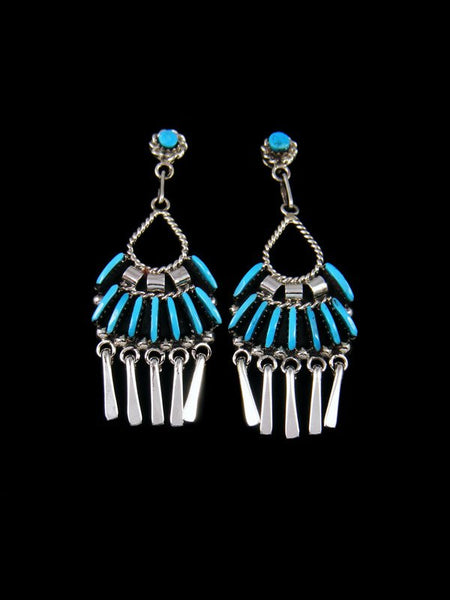 Native American Zuni Jewelry Turquoise Post Earrings