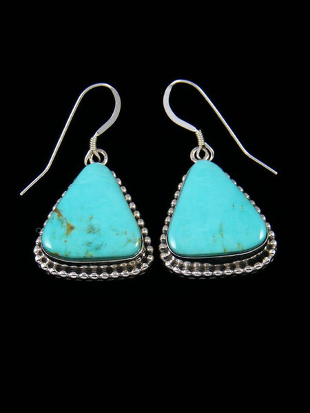 Navajo Turquoise Native American Jewelry Dangle Earrings