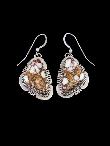 Navajo Wild Horse Sterling Silver Dangle Earrings