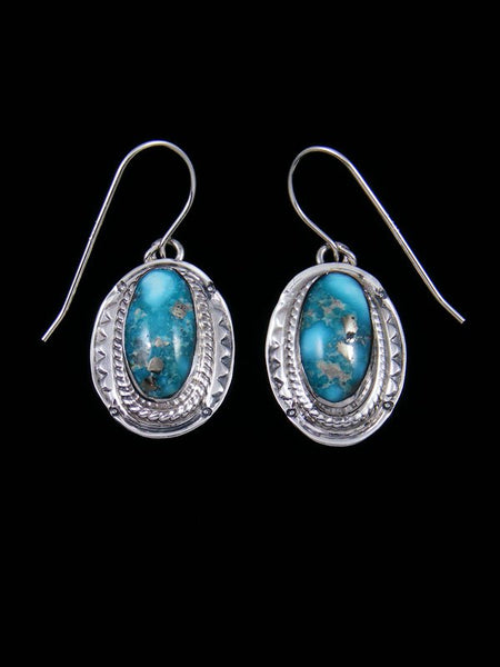 Sierra Nevada Turquoise Sterling Silver Dangle Earrings