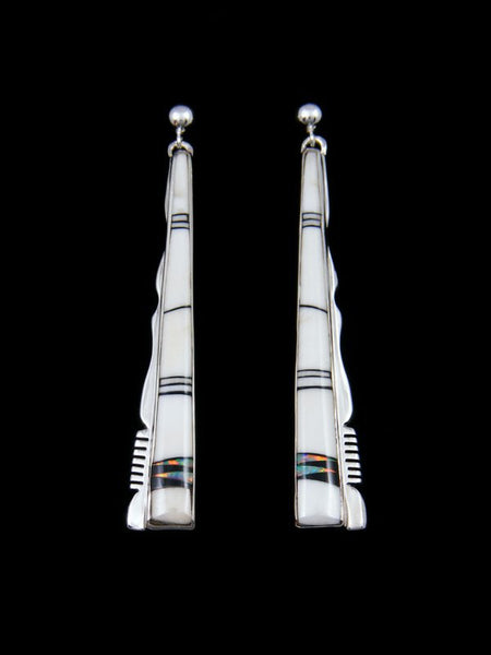 Native American White Buffalo Navajo Inlay Earrings