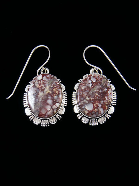 Native American Sterling Silver Wild Horse Dangle Earrings
