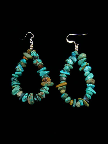 Navajo Turquoise Beaded Dangle Earrings