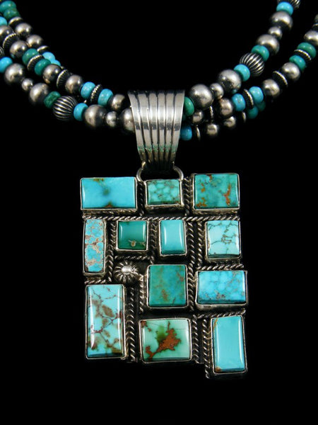 Native American Kingman and Royston Turquoise Beaded Necklace