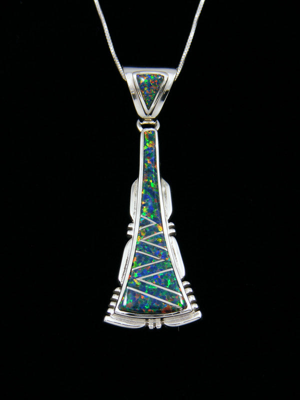 grande necklace sterling pendant silver onyx products inlay turquoise zuni opal