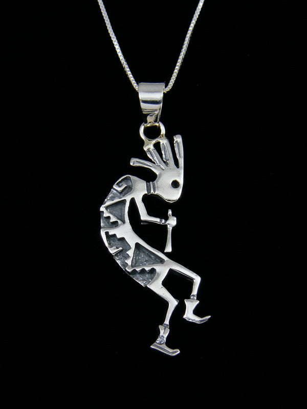 Native American Indian Sterling Silver Kokopelli Pendant
