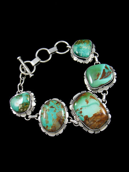 Native American Natural Royston Turquoise Link Bracelet