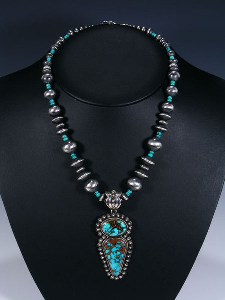 Native American Royston Turquoise Necklace Set