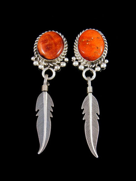 Navajo Sterling Silver Spiny Oyster Post Earrings
