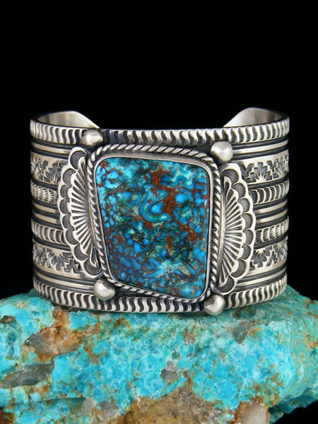 Native American Egyptian Prince Turquoise Cuff Bracelet