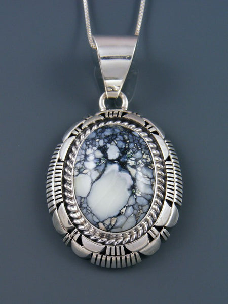Native American Sterling Silver Variscite Pendant