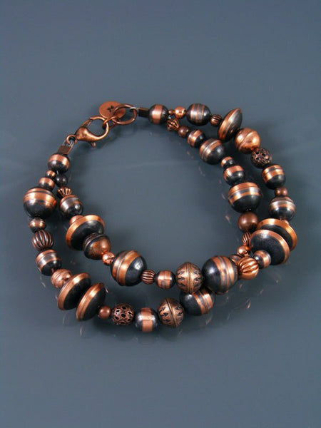 Native American Indian Jewelry Copper Bead Bracelet