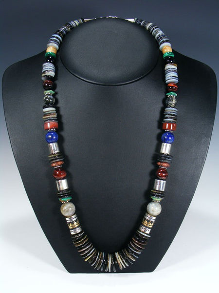 "Black Lip Mother of Pearl Single Strand Bead 28"" Necklace"