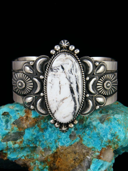Native American Jewelry White Buffalo Cuff Bracelet