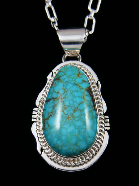 Native American Sterling Silver Jewelry #8 Turquoise Pendant