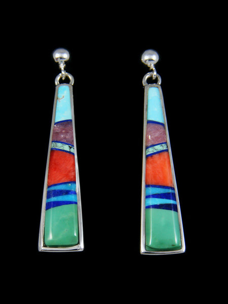 Turquoise Multi-Stone Inlay Post Earrings