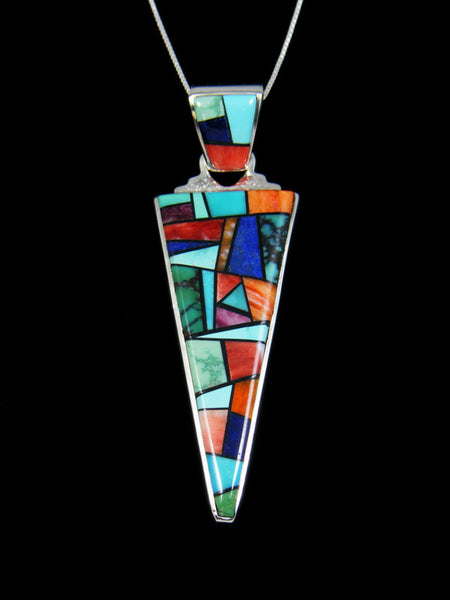 Turquoise Multi Stone Reversible Inlay Pendant