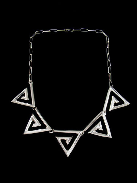 Navajo Sterling Silver Triangle Choker Necklace
