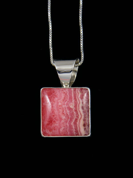 Native American Indian Jewelry Rhodochrosite Pendant