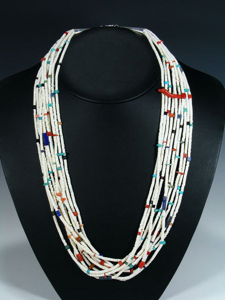 Ten Strand Native American Santo Domingo White Shell Heishi Necklace