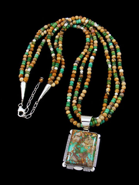 Native American Navajo Royston Turquoise and Jasper Necklace