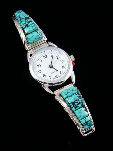Native American Turquoise Inlay Ladies' Watch